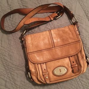 Fossil Brown Leather Maddox 1954 Vintage Crossbody